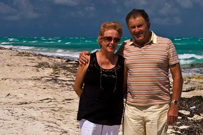 Ray & Lola at Isla Blanca, Cancun, Mexico.