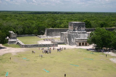 View from the pyramid, Chichen Itza