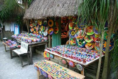 Maya village market