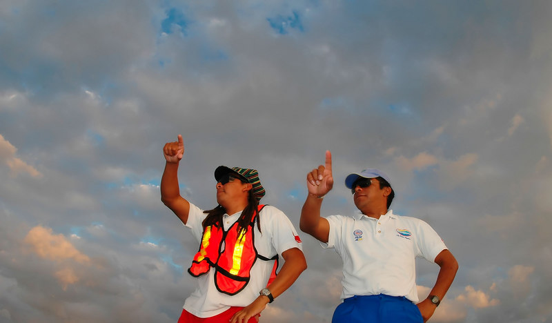 The ferry boat ride from Isla Mujeres back to Cancun was a blast. Here are two of the crew dancing to <i>YMCA</i>