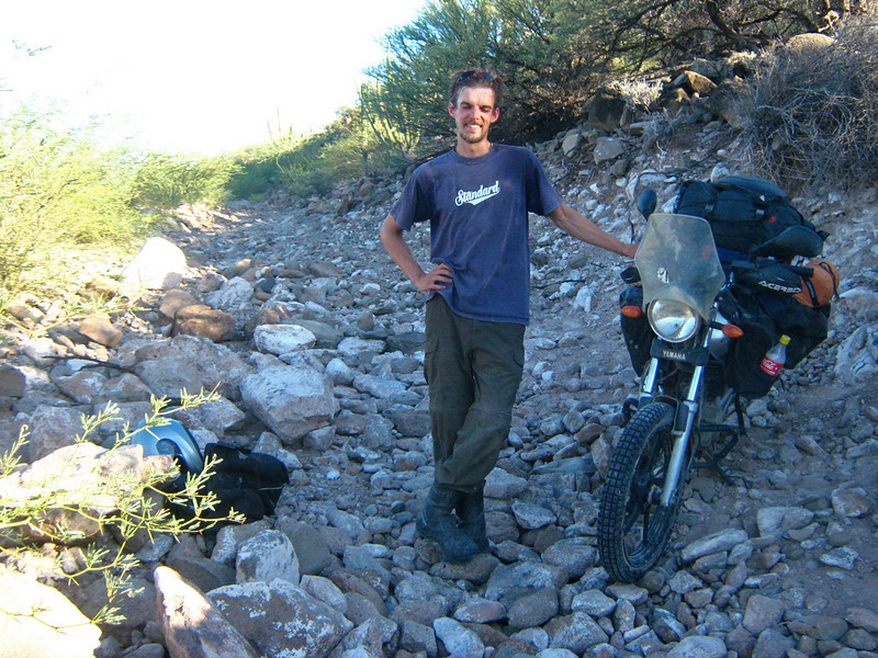 Nick Jones,  'Road' north from San Jose de Comandu ,  Baja California