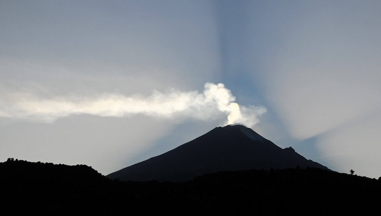 Popocatépetl Volcano (?). East of Mexico City