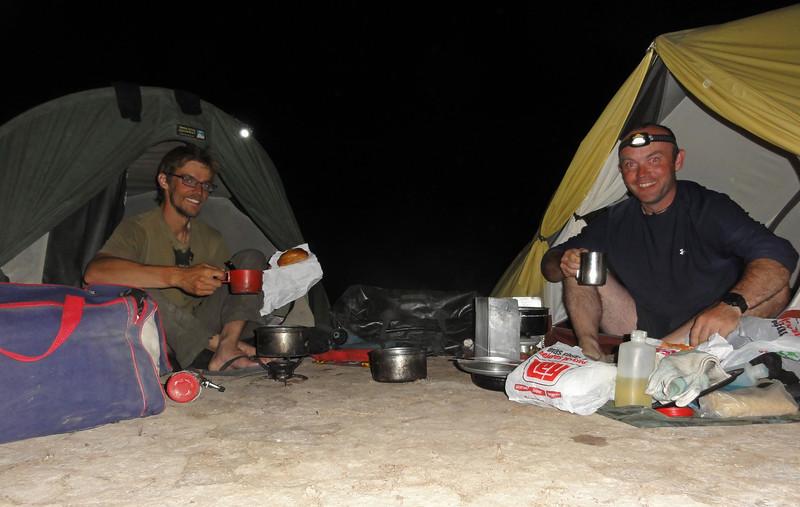Bush camp,  Bahia Coyote,  Baja California