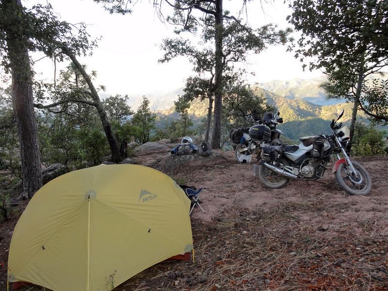 Bush camp on Piedras Verdes to Mesa de Arturo road,  Copper Canyon