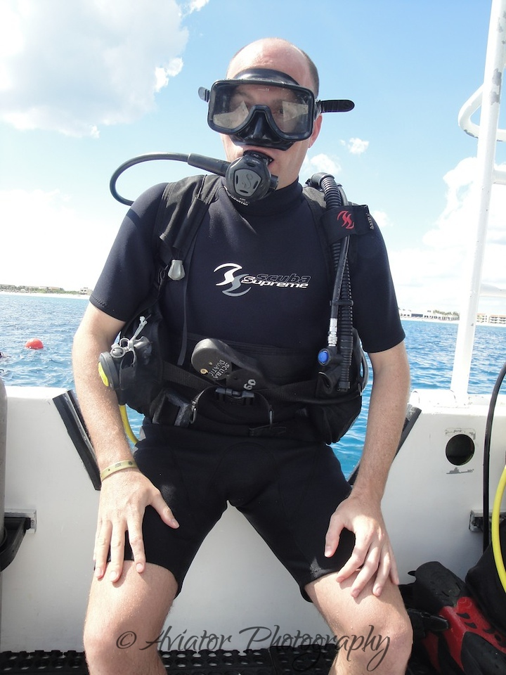 My dive partner, Alex.<br /> <br /> Photos courtesy of Gaby from Scuba Aquatic.