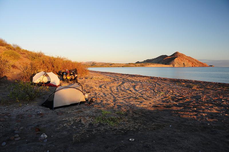 Beach camp sth of Mulege,  Baja California