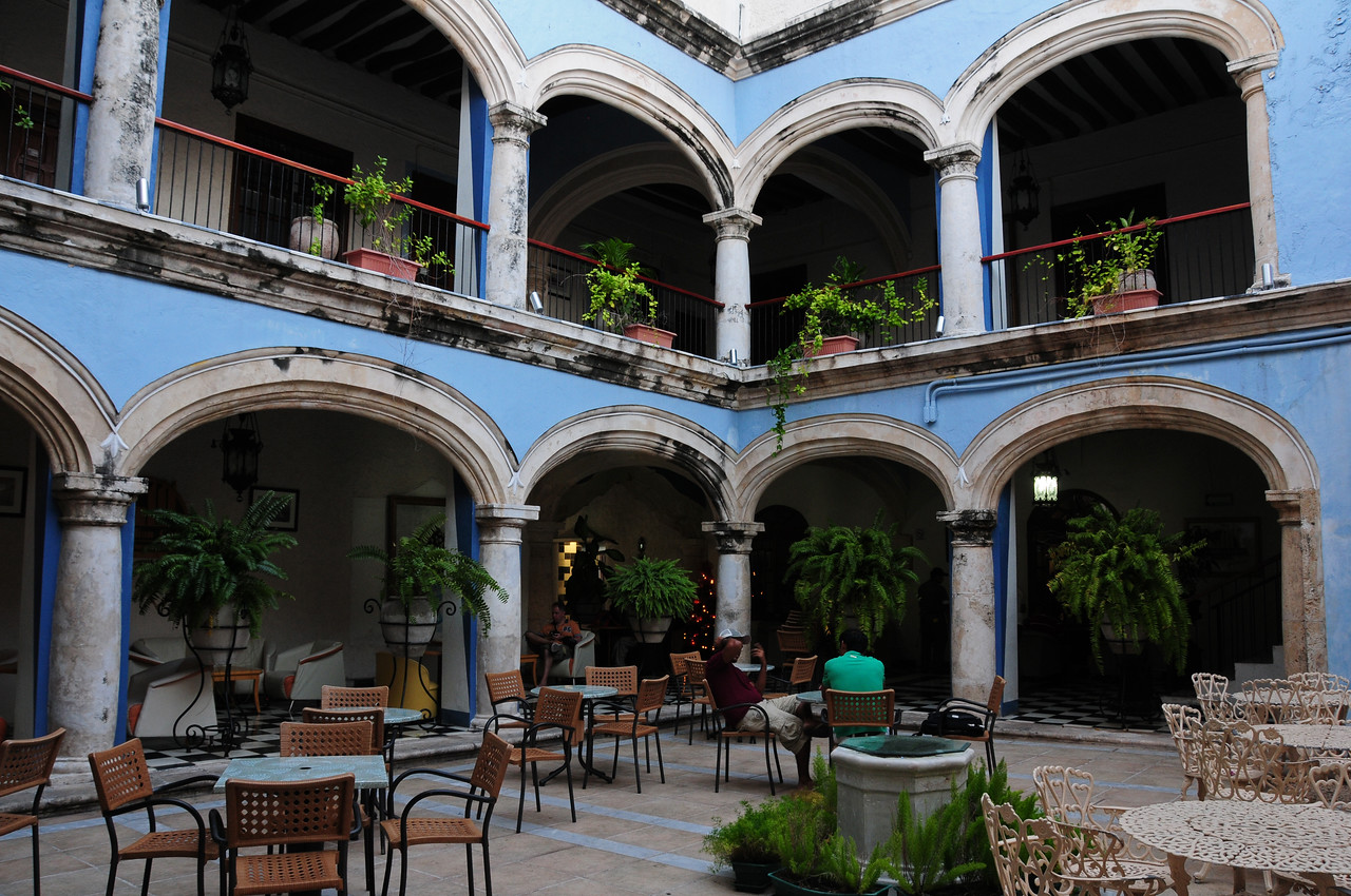 Courtyard behind the Italian Coffee Co,  Campeche