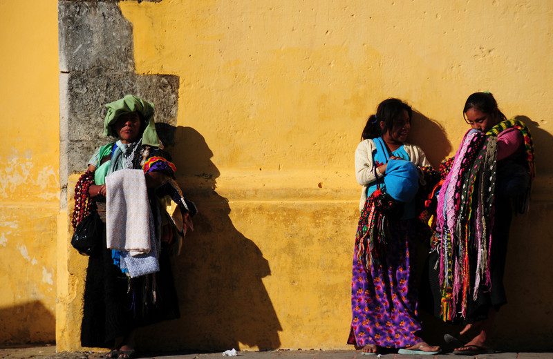 Waiting for the bus. San Cristobal de las Casas. Mexico