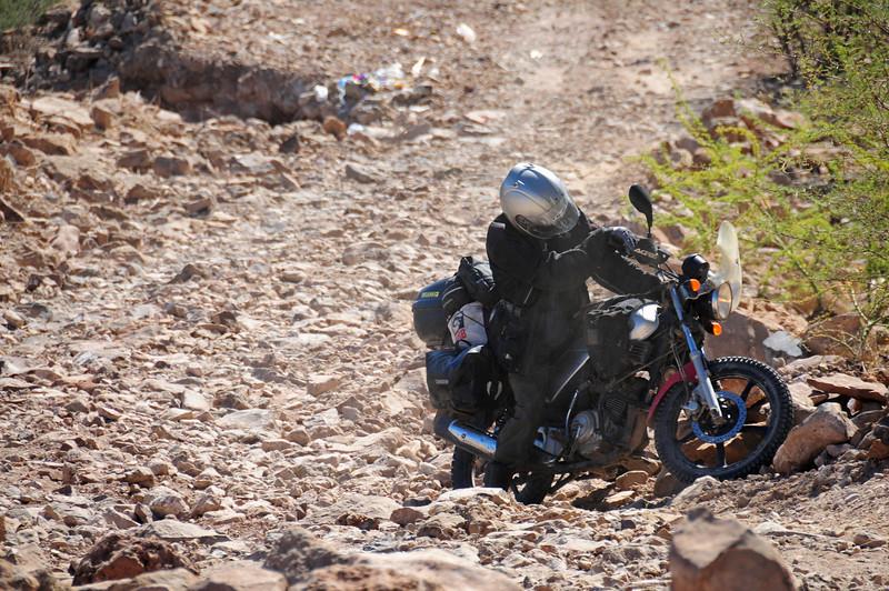 Nick Jones,  road to San Jose de Commondu,  Baja California