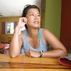 Contemplative Thu at the Mango Cafe