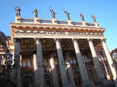 The opulent Teatro Juarez.
