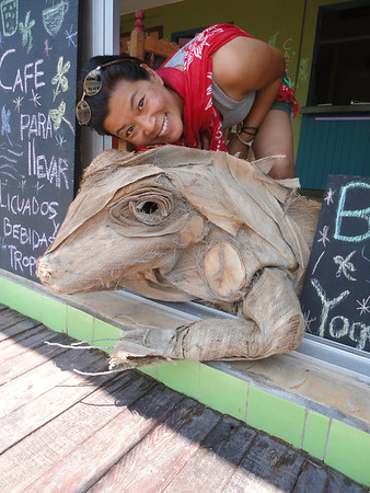Thu and her iguana