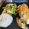 Chicken stuffed with Chaya - just wow! Mango Cafe