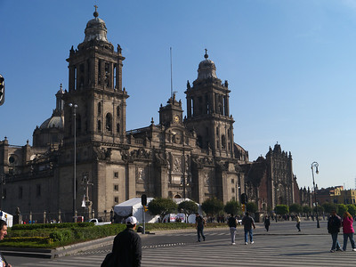 Catedral Metropolitana begun in 1573 and built atop Azetec temple it took two centuries to complete