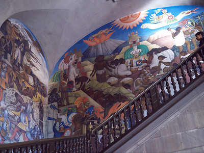 Murals by Diego Rivera in the National Palace, seat of Mexican government