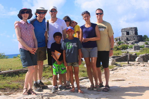 The crew at Tulum Ruins