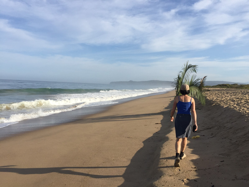 solid walking, but thaugh to run because the sand was quite soft