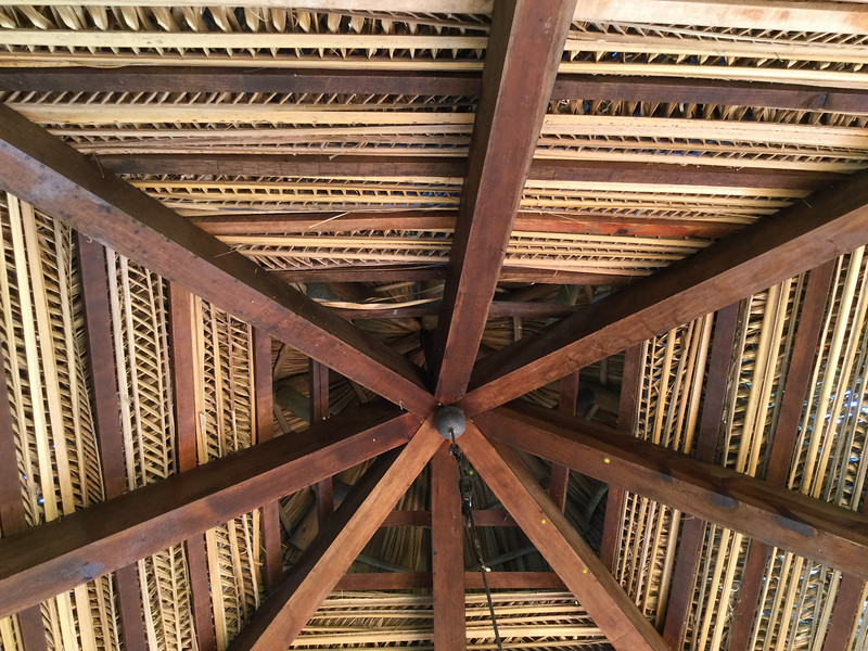 structure of patio roof