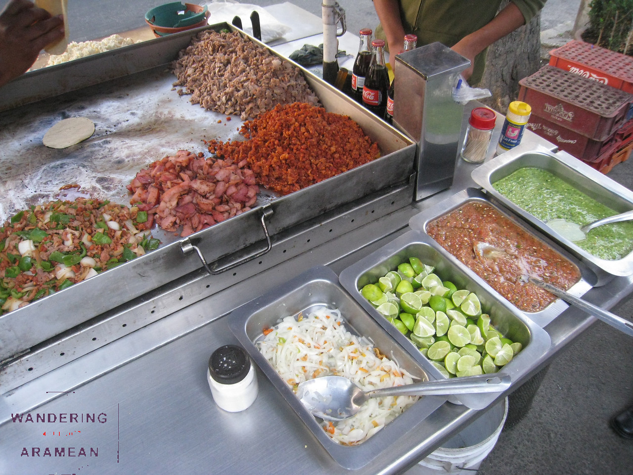 Another shot of the street meat.  The chorizo was delicious!
