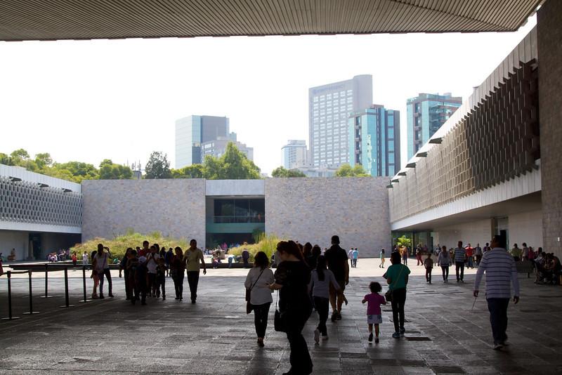 Interior courtyard at Museo Nacional de Anthropologia.