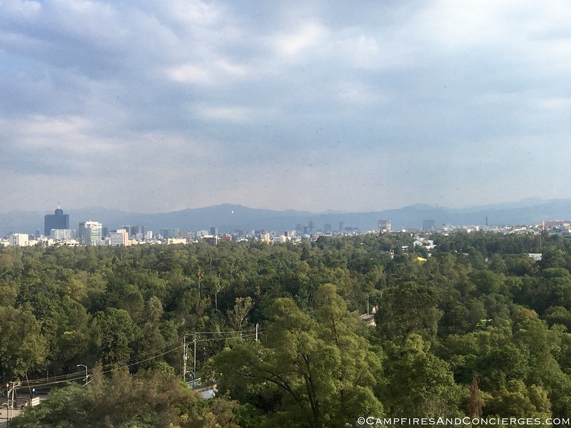 View from my room over Chapultepec Park