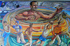 "Center-most portion of a mural produced by <a href=""http://es.wikipedia.org/wiki/Rosendo_Soto"">Rosendo Soto</a> and Jorge Best in 1968 in a building in Mexico City owned by the Pasquel family."
