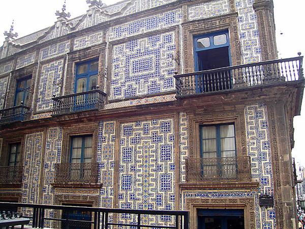 Case de los Azulejos - House of Blue Tiles.  On Avenida Francisco I. Madero, a main drag running down to the Zocalo.