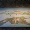 Painting of ancient Mexico City - It was originally built in a lake.  The lake has been dry for many centuries.