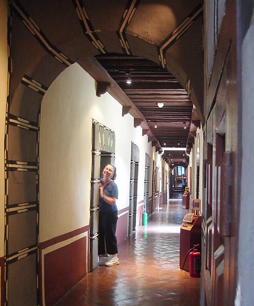 A hallway in the  Convento de Churubusco - the nun's rooms were off this hallway