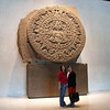 Ginny & me in front of the Mayan calendar.