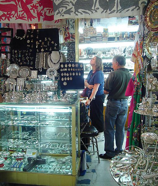 In a jeweler's stall at Mercado de La Ciudadela