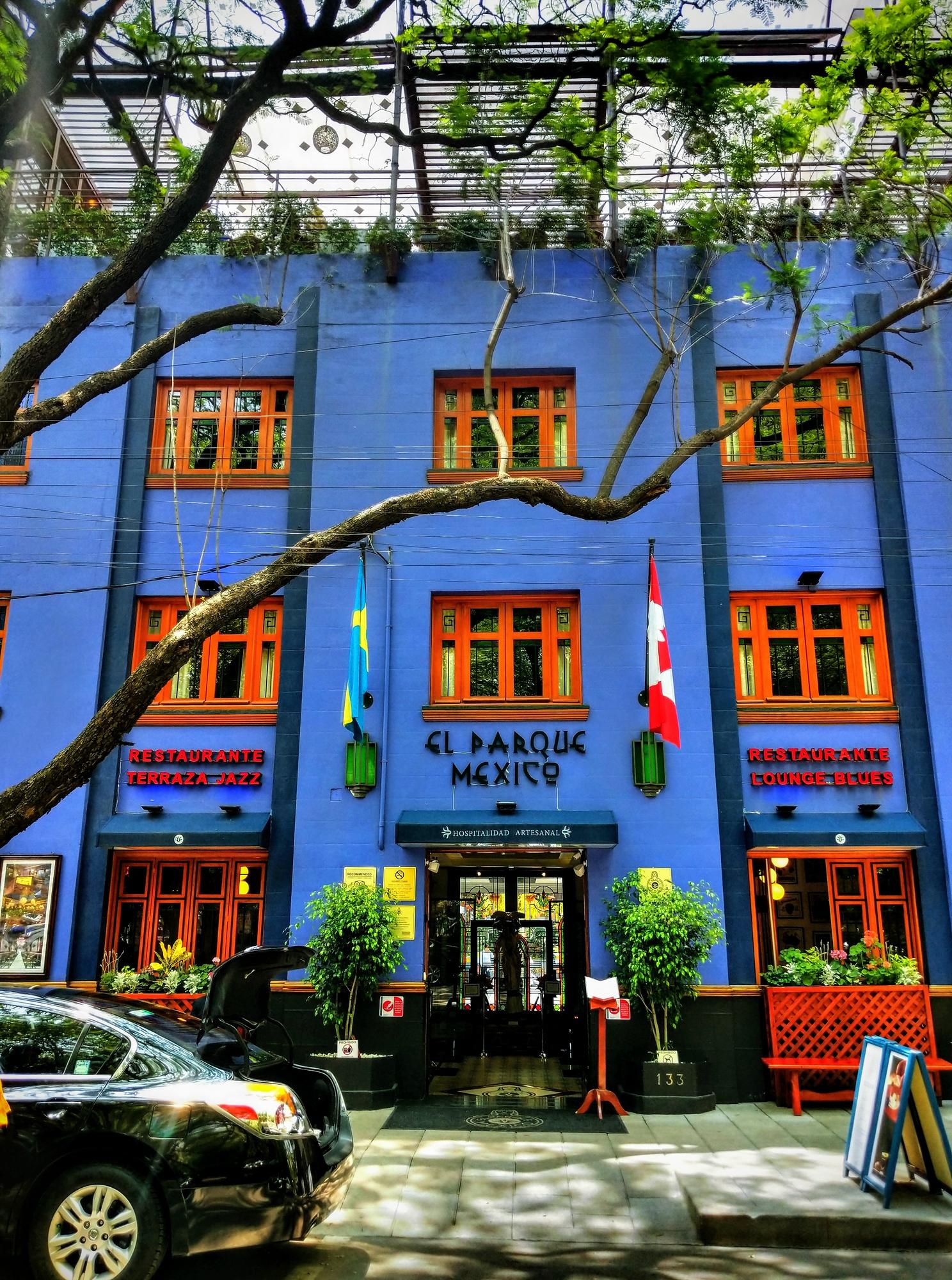 El Parque Mexico hotel in La Condesa Mexico City