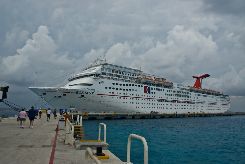 This picture was taken at the dock in Cozumel.