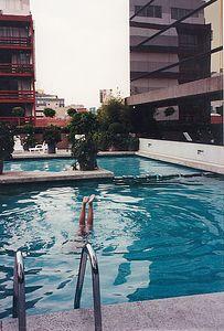 Edward in Mexico City pool