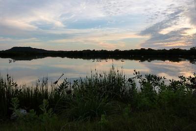 Sunset over the Wood Stork pond