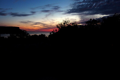 The sunset from our rental house in Chacala, Mexico on the first night of our visit.