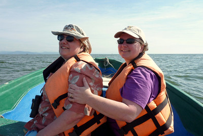 Holly and Mary - just offshore from San Blas, near Piedras de la Virgen (Rock of the virgin).