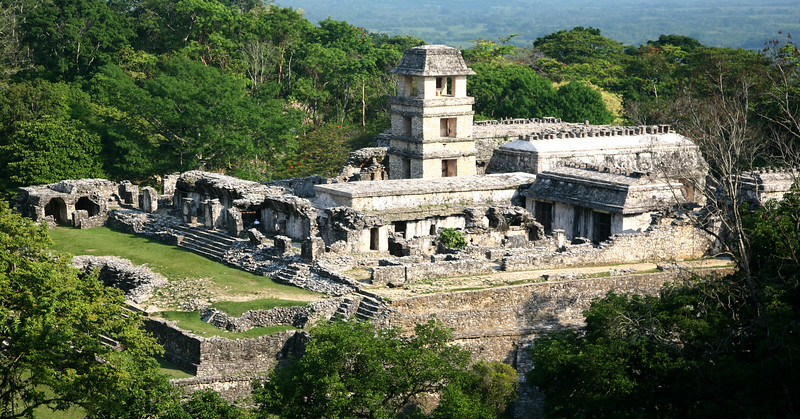 Royal Palace, Palenque, Chiapas, Mexico.