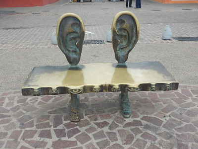funky bench on Malecon
