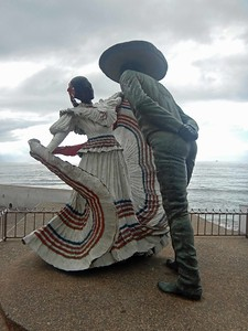 funky statues on the Malecon