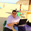 Holiday Inn (SA5-82 meeting hotel) in San Jose Del Cabo, Mexico - Gyula working at the beach