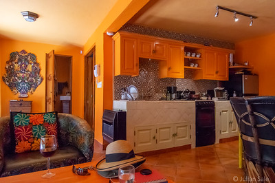 We stayed at an Airbnb called Casita Linda.  It was very colourful - Maggie chose it for it's excellent location (walking distance to everything) and of course, my favourite colour, orange.