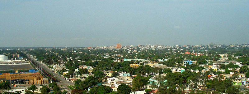 La ciudad de Tampico desde el puente.