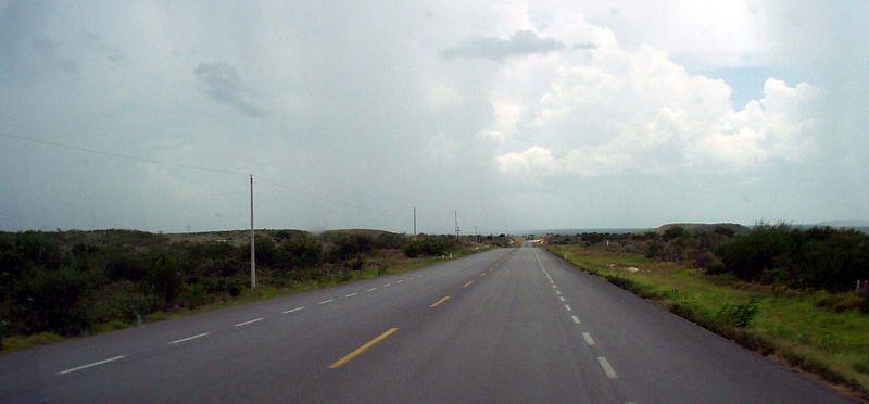 Al sur de Matamoros.