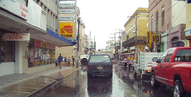 Lluvia en Matamoros, despues aduana y migracion.