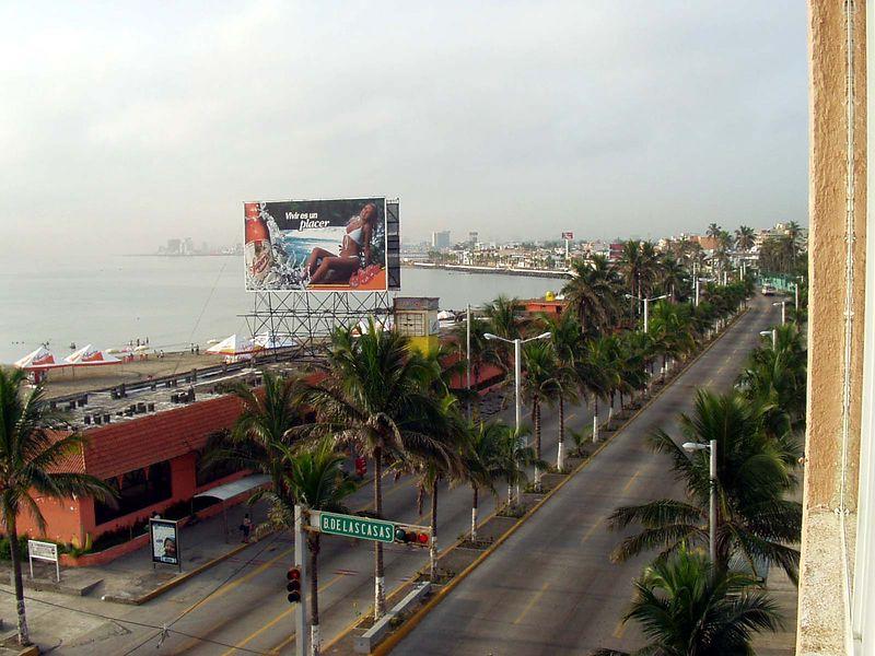 Veracruz, al sur desde el habitación en el Hostal de Cortes