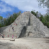 Pyramid at Coba. The only one tourist are allowed to climb.