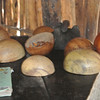 A non edible Mexican gourd is used as containers for everything.