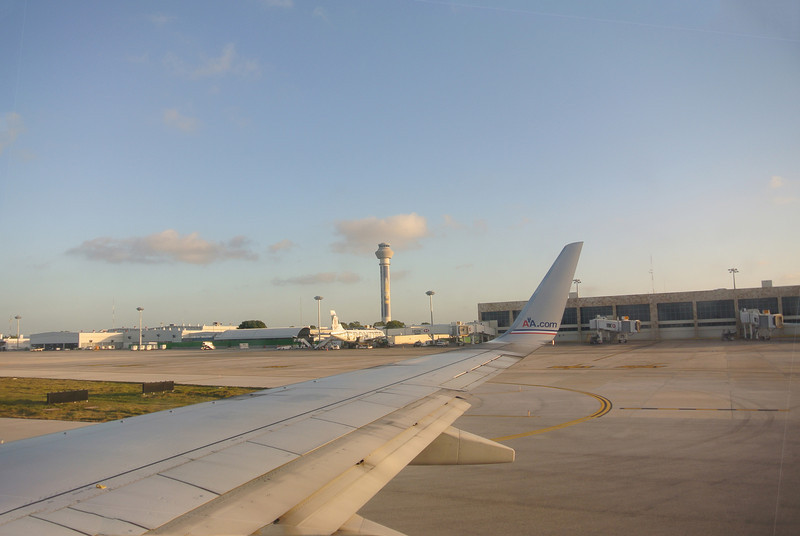 Cancun Airport returning to Miami.
