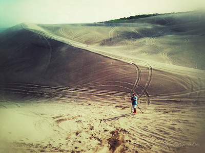 Evan Swinehart on the Chachalacas sand dunes